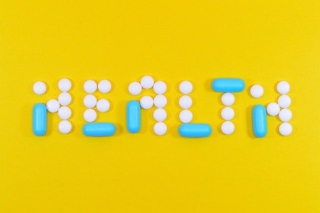 """""""Health"""" spelled out in pills"""